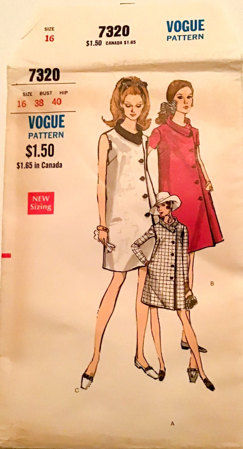 64b0dcf693a Vintage Vogue Maternity Dress 7320 Stunning 1960s One Piece