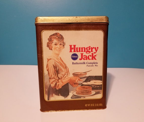 Vintage Pillsbury Hungry Jack Pancake Mix Tin Can Farmhouse Etsy