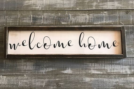 Welcome Home Sign Wood Sign Signs Home Decor Rustic Decor Farmhouse Decor Wall Hangings Wall Decor Home Signs