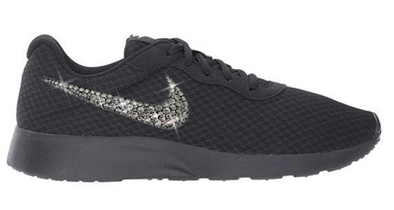 ef859489e FREE SHIPPING Swarovski® Nike® Shoes - Bling Nike Tanjun Shoes Womens Bling  Shoes - Authentic New In Box