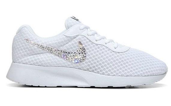 0b756f10c FREE SHIPPING Swarovski® Nike® Shoes - Bling Nike Tanjun Shoes Custom Bling  Shoes - Authentic New In Box