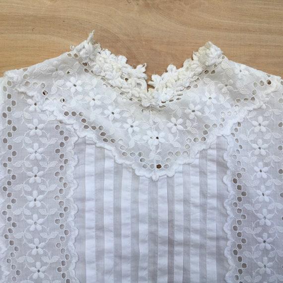 Blouse Antique Women's Shirt 1800s - image 7