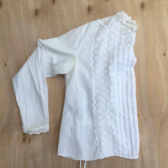 Blouse Antique Women's Shirt 1800s - image 3