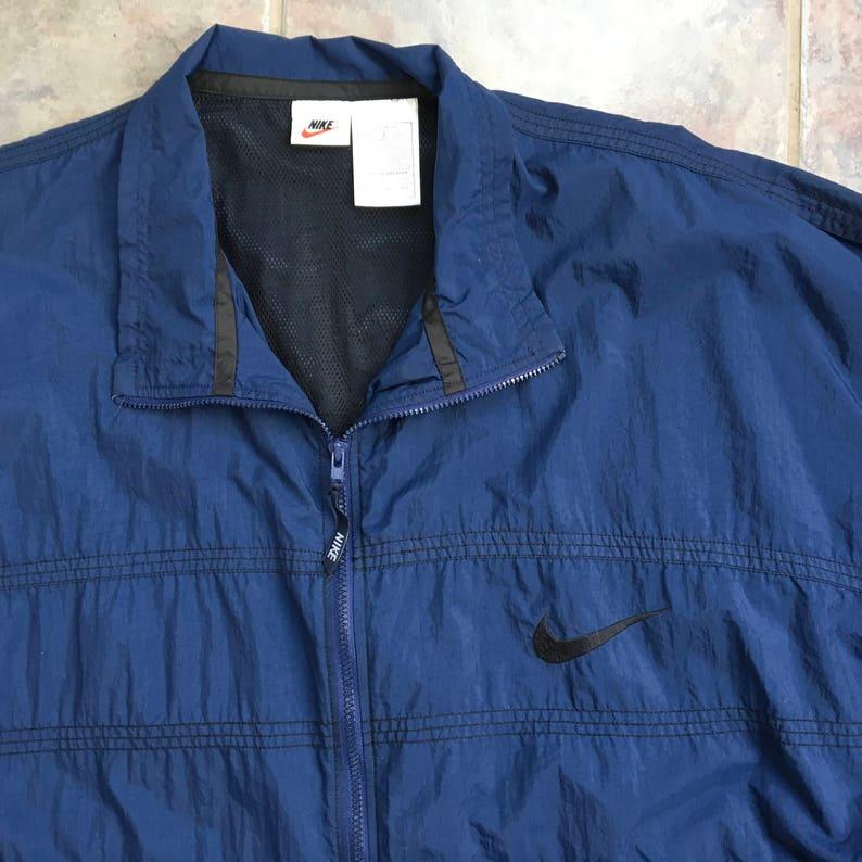 66ad3b3b0 Vintage Nike Windbreaker Navy XXL Nike Lightweight Jacket | Etsy