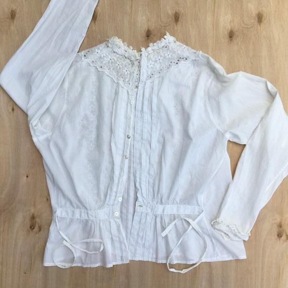 Blouse Antique Women's Shirt 1800s - image 4