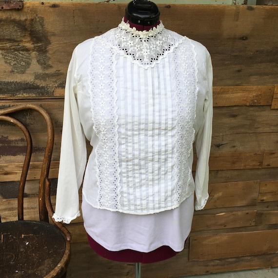 Blouse Antique Women's Shirt 1800s - image 1