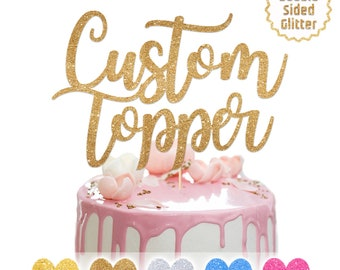 Marvelous Name Cake Topper Etsy Funny Birthday Cards Online Fluifree Goldxyz