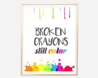 Only The Brave Teach Printable Teacher Wall Art Teachers Of Etsy