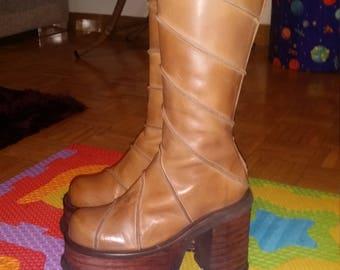 3d80b19a830 90s vintage Platform boots el Dantes