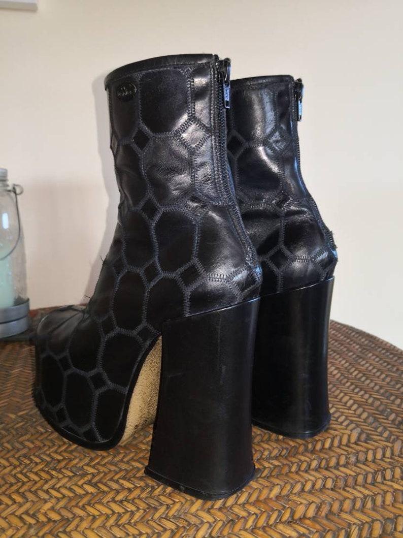 90s 00s vintage platform boots Black El Dant\u00e9s