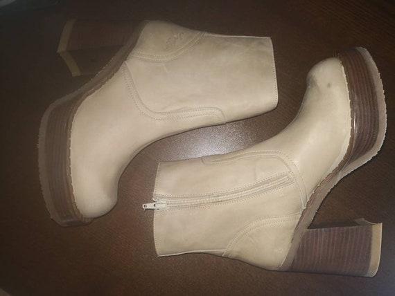90s deadstock vintage platform ankle boots Destro… - image 3
