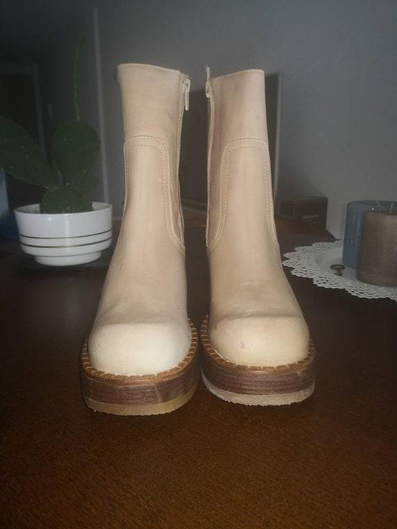 90s deadstock vintage platform ankle boots Destro… - image 5