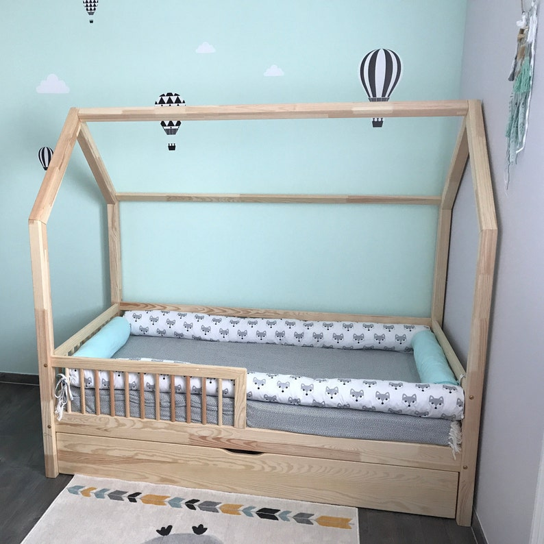 Huis Bed Peuter.Montessori Vloer Twin Single Peuter Bed Bumpers Huis Tipi Tipi Etsy