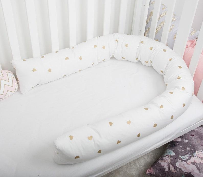 Baby Bed Bumper Crib Cot Nursing Pillow Toddler Bed Snake Pillow Protective  Bumper Nursery Decor Baby Cushion Shade Of Gold, Bolster