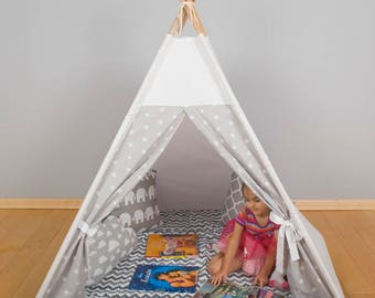 Kids Wigwam, Tipi Tent, Kids Teepee, Childrens fabric Teepee Tent For Kids, Kids Teepee Tent, Play Teepee, Canvas Teepee cave play zone