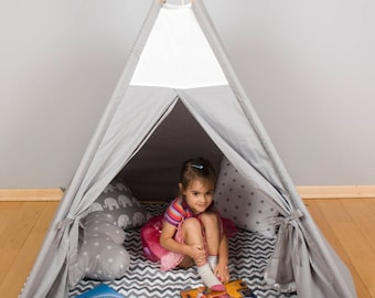 Kids Wigwam, Tipi Tent, Kids Teepee, Childrens fabric Teepee Tent For Kids, Kids Teepee Tent, Play Teepee, Canvas Teepee, cave play zone fun