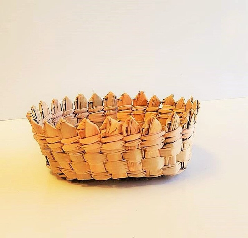 Set of 12 Handwoven Palm Mini Basket Tall 2 Favor Basket Wedding Basket Baby Shower Favors Mexican Favors Candy Basket