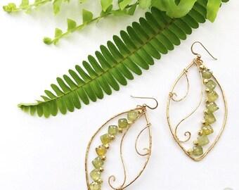 """Fern Swirl Goldfilled Earrings """"Gypsy Fern"""""""