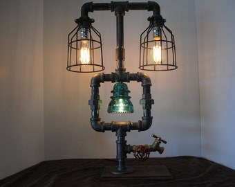 Lighted Insulator Pipe Lamp