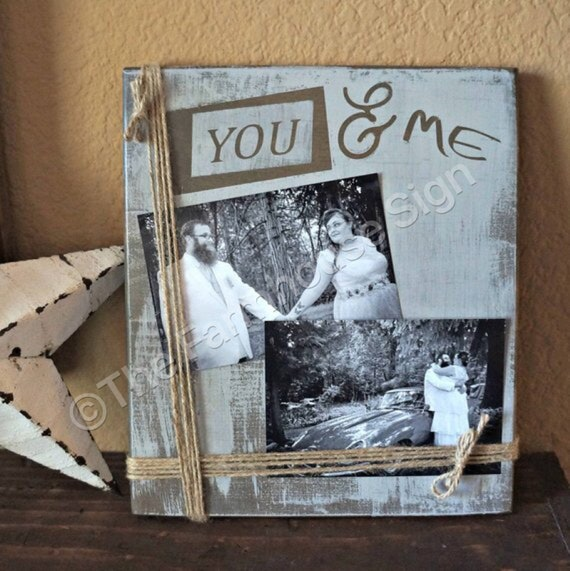 You Me Wood Sign Photo Frame Farmhouse Sign Etsy