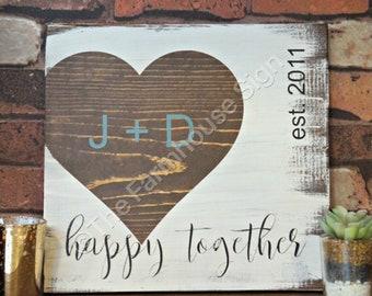 Couples Sign   Initials Sign   Custom Name Sign   Custom Wedding Gift   Housewarming Gift   Established Sign   Monogram Sign