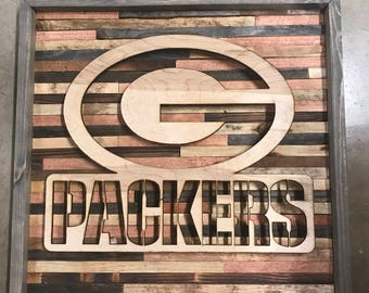 Rustic sports decor Green Bay Packers wall art aba4bb047
