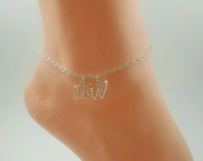 Hotwife Anklet, Initial Jewelry, Personalized Anklet, Swingers Jewelry, Sexy Anklets, BEST SELLER, Single Silver Series