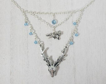 Vixen And Stag Necklace, Hotwife, Kinky Lifestyle Jewelry