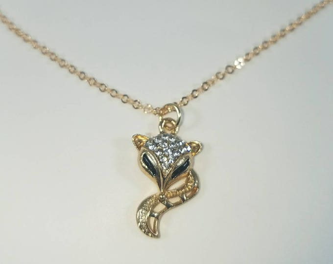 Hotwife Vixen Necklace, Champagne Rose, Sexy Delicate Naughty