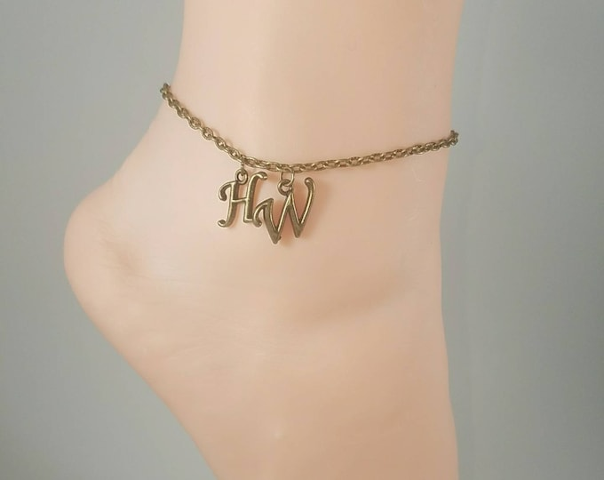 Hotwife Anklet, Initial Jewelry, Personalized Anklet, Swingers Jewelry, Sexy Anklets, BEST SELLER, Single Bronze Series