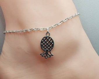 Upside Down Pineapple Anklet, Upside-Down Pineapple Jewelry, Swingers Lifestyle Jewelry