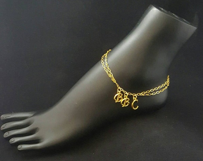 BBC/Hotwife Anklet Double Chain Gold Plated Anklet