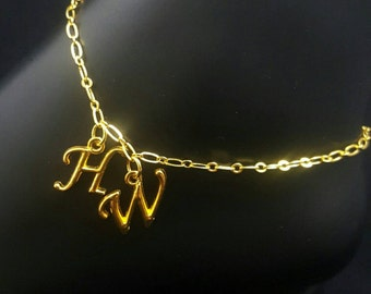 Hotwife Anklet, Initial Jewelry, Personalized Anklet, Swingers Jewelry, Sexy Anklets, BEST SELLER, Single Gold Series