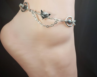 KELLY SIGNATURE Series Limited Edition, Vixen Hotwife Anklet, Initial Jewelry, Personalized Jewelry, Sexy Anklets, Swinger Jewelry, Kinky