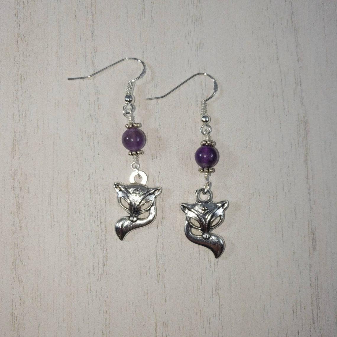 Hotwife Vixen Earrings Genuine Amethyst Gemstone | Etsy