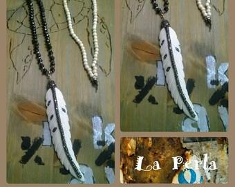Long chain spring beaded rhinestone