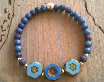 Bracelet Czech glass beads