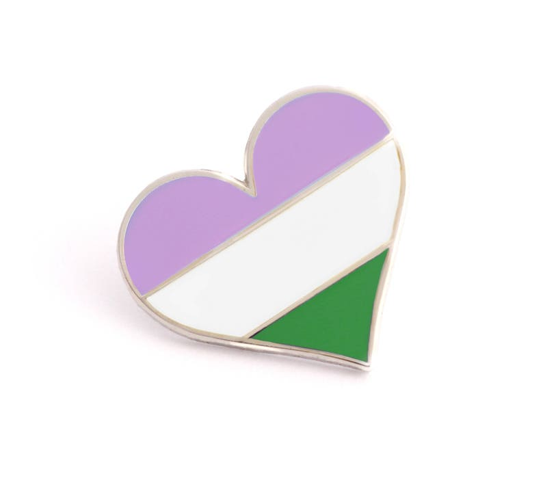 948cc136798 Queer pin Pride pin Gay lapel pin Genderqueer pin Heart | Etsy