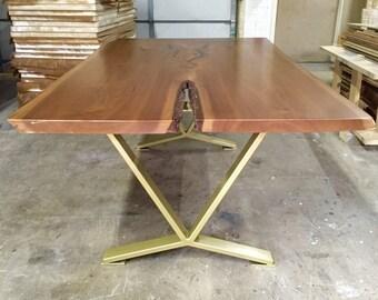 Bon V Shaped Dining Table Legs, Industrial Legs, Set Of 2 Steel Legs