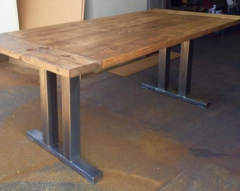 Dining table top Modern Reclaimed Wood Dining Table Reclaimed Wood Table Top With Steel Legs Salvage Reclaimed Wood Table Etsy Dining Table Top Etsy