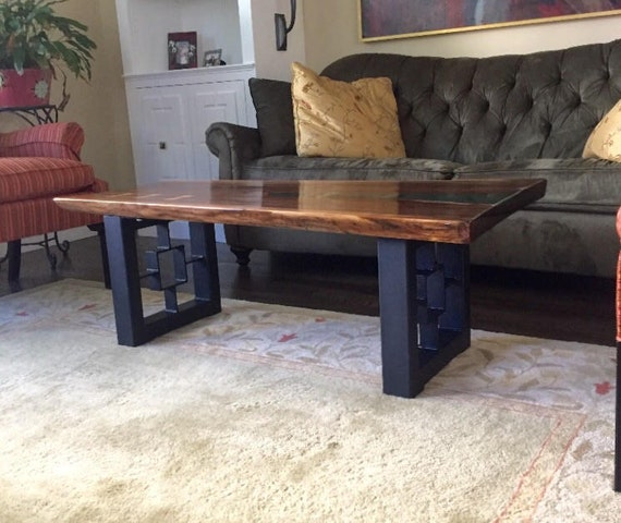 Modern Square Coffee Table Legs Industrial Legs Set Of 2 Etsy