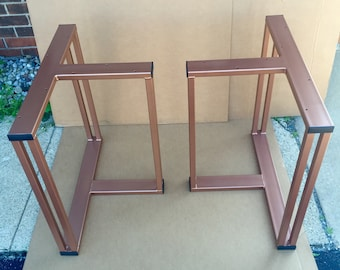 Design Dining Table Legs, Set of 2 Steel Legs, Design Heavy Duty Table Base