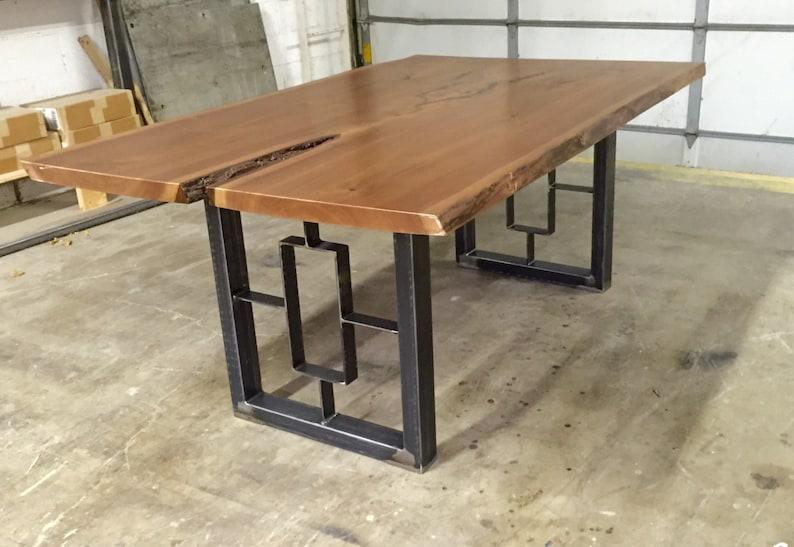 Square Rectangular Modern Dining Table Legs Industrial Legs Etsy