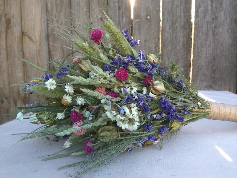 bridesmaid bouquet dried flower wedding bouquet dry flower bouquet Wild flower bouquet bridal bouquet Rustic wedding bouquet