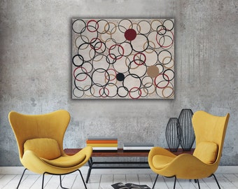 CIRCLES Geometric Contemporary Art  Composition Minimalism