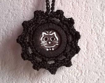 CROCHET cat collar in