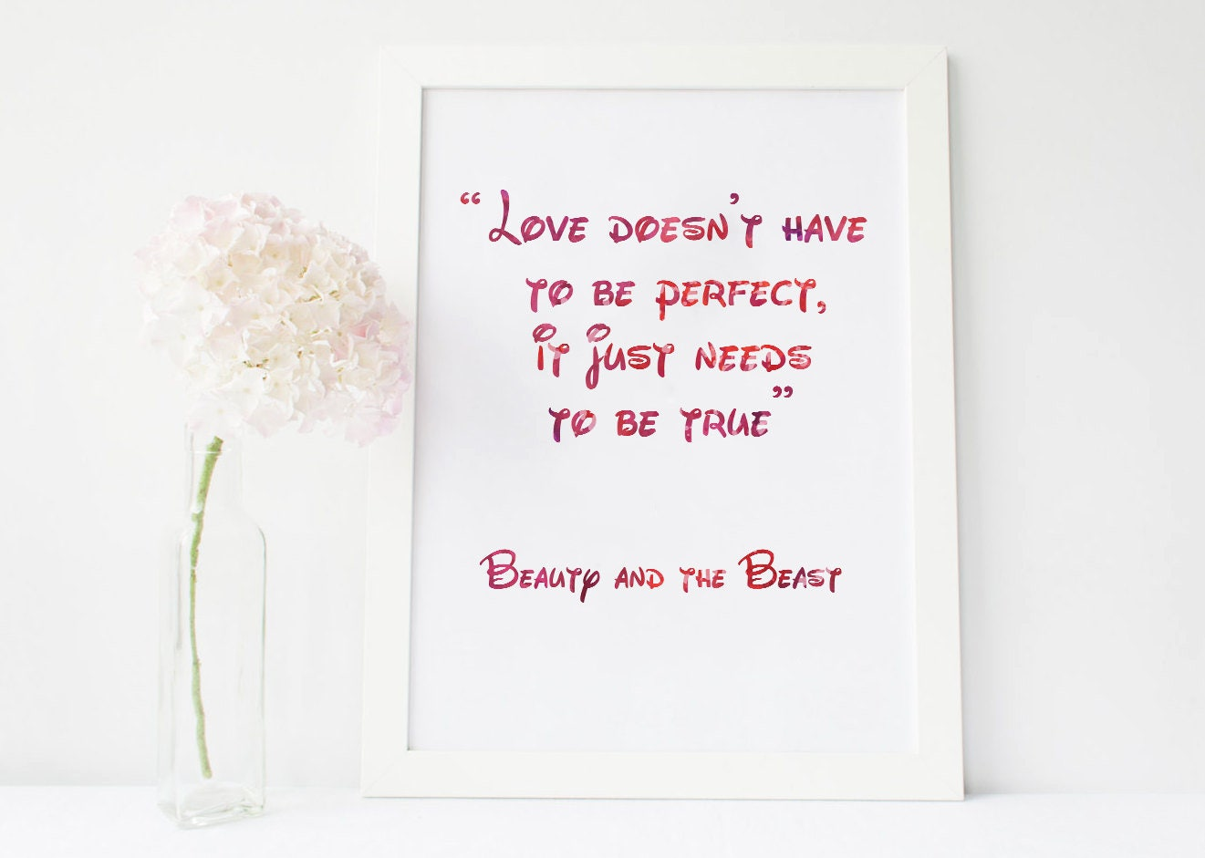 Love Doesnt Have To Be Perfect Be True Beauty And The Etsy