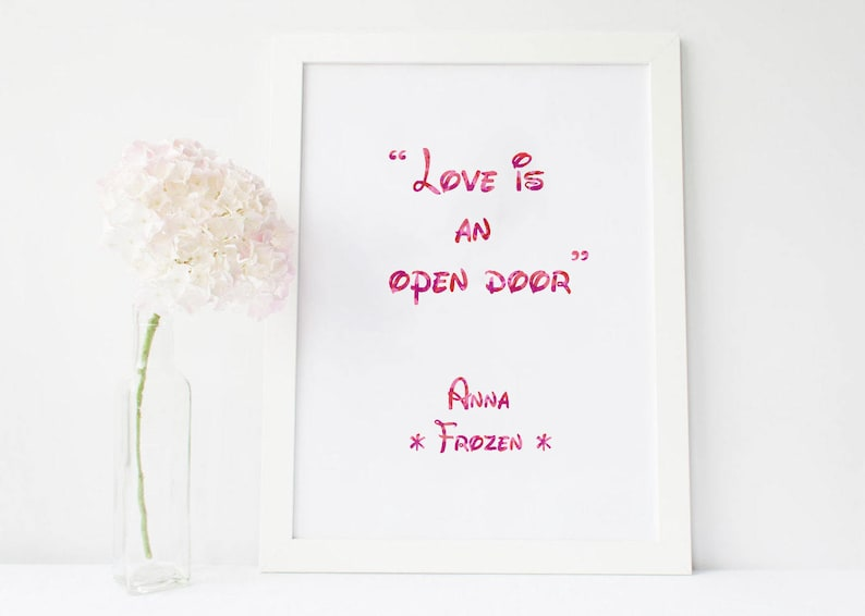 Love Is An Open Door Love Is An Open Door Sign Love Is Wall Etsy