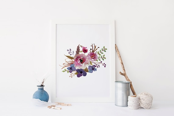 Floral Wall Art Printable Print Flower