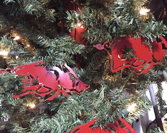 licensed set of 6 licensed razorback ornaments